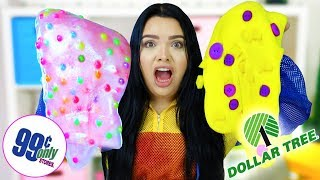 Dollar Tree VS 99 Cent Store Slime Challenge! making slime using $1 dollar supplies