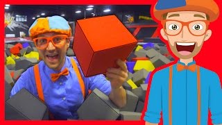 The Trampoline Park with Blippi   Learn Colors and more!