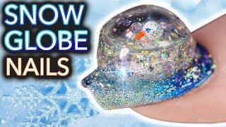 DIY Snowglobe Nails (I built a snowman on my nail)