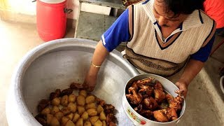 Chicken Biryani Making In Restaurant - Indian Street Food