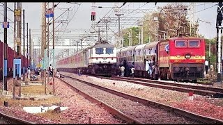 Back To Back High Speed Overtakes By Premium Trains || INDIAN RAILWAYS
