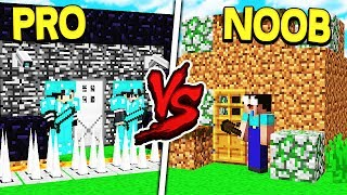 PRO HOUSE VS. NOOB HOUSE! - MINECRAFT