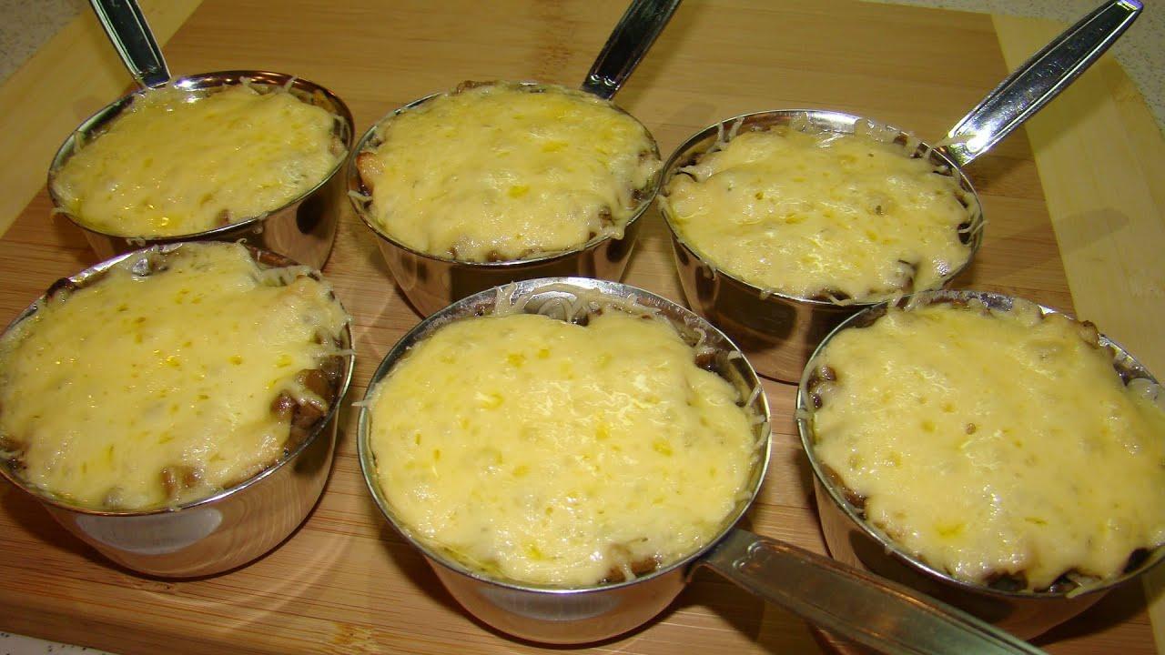 Жульен с курицей и грибами рецепт в духовке со сметаной и