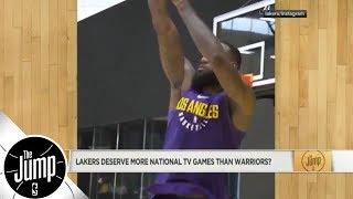 Do LeBron James-led Lakers deserve more national TV games than Warriors? | The Jump | ESPN