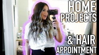 HAIR DONE, NAILS DONE & HOUSE UPDATE! | Casey Holmes Vlogs