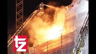 Brand in der Maxvorstadt in München