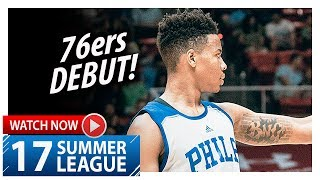 Markelle Fultz Full 76ers Debut Highlights vs Celtics (2017.07.03) Summer League - 17 Pts, 3 Blks