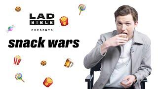 Marvel Studios' Avengers: Infinity War Tom Holland Aka Spider-Man Eating British And American Snacks