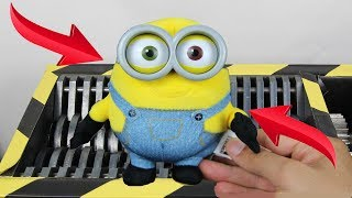 Experiment Shredding Descpicable Me 3 Minions And Toys | The Crusher