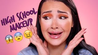 HOW I DID MY MAKEUP IN HIGH SCHOOL Challenge | Amanda Ensing