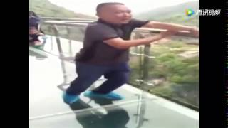 China Glass Walkway (Fear of Heights) Compilation 2