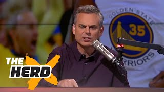 Warriors win Game 2 of 2017 Finals, Golden State greatest team ever? - Colin discusses | THE HERD