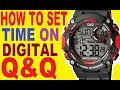 How to set time on Q&Q digital watchmp3