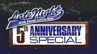 Late Night with David Letterman 5th Anniversary Special (1987) Full Show!