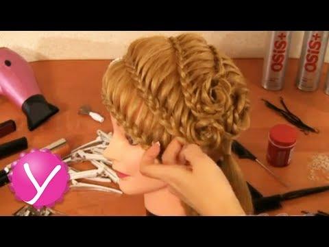 новые прически с плетением кос видео уроки
