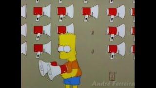 Bart Simpson canta Isolados no Megafone