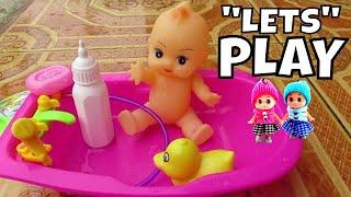 Lifia Niala Mainan Anak Boneka Bayi Mandi Boneka Bebek ❤ Baby doll bath time with Duck