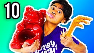 REAL FOOD VS GUMMY FOOD 10!