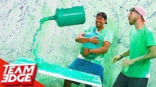 Water Bottle Flip Challenge Returns!   Slime Punishment Edition!!
