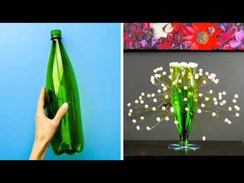 Title: How to recycle plastic bottles at home - DIY - Wind chime out of plastic bottle