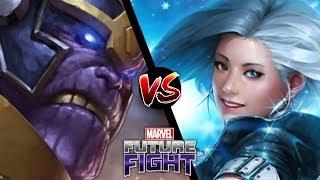 Marvel Future Fight: T1 Luna Snow VS Infinity Thanos [No Strikers]