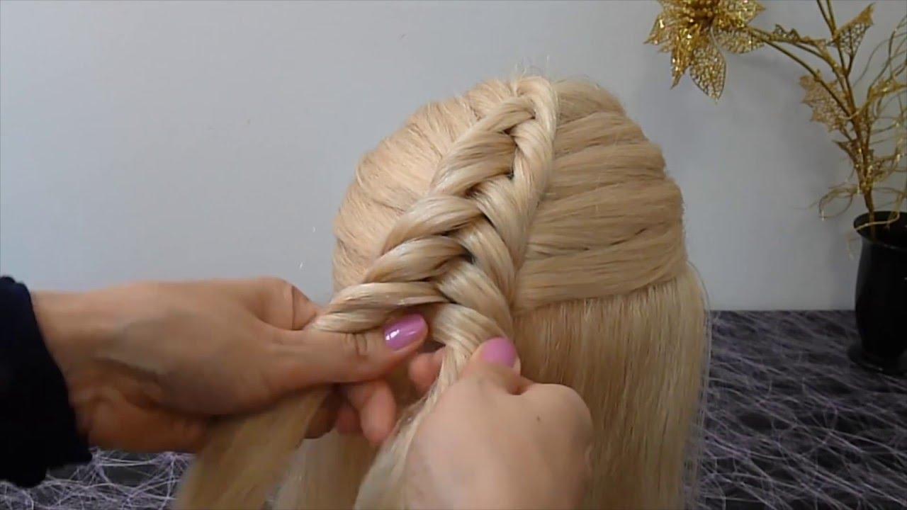 Прически для средних волос для девочки 5
