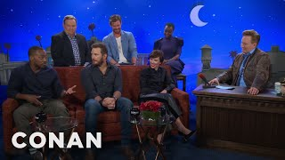 """The Men Of """"Avengers: Infinity War"""" Compare Themselves To Different Meats  - CONAN on TBS"""