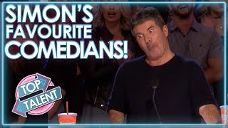 Comedians That MADE SIMON COWELL LAUGH! | Top Talent