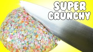 DIY | Glitter Crunch Slime - HOW TO MAKE CRUNCHY SLIME + CRUNCHY SLIME ASMR!!!