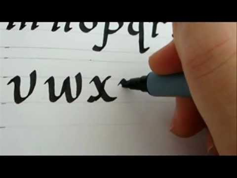 how to write calligraphy letters