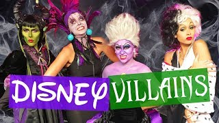 We Become DISNEY VILLAINS!! Halloween Makeup Transformation (Boo-ty Break)