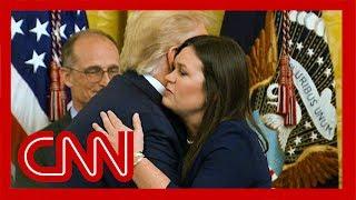 Watch Trump say goodbye to Sarah Sanders