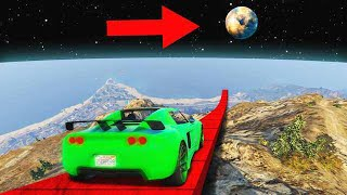 LONGEST CAR JUMP IN THE HISTORY OF GTA 5! (GTA 5 Funny Moments)
