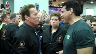 Arnold Schwarzenegger and Lou Ferrigno at Arnold Classic Expo 2012