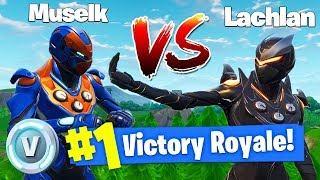 I Challenged Lachlan To a 1v1 For *100,000 V-BUX* In Fortnite Battle Royale!