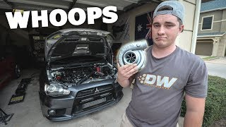 THE TURBO FELL OFF of my Evo X
