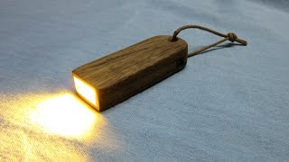 Making a Wooden Flashlight with USB Charging