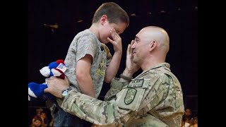 SOLDIERS COMING HOME   Most Emotional Surprise Compilation at Basketball Game   RESPECT