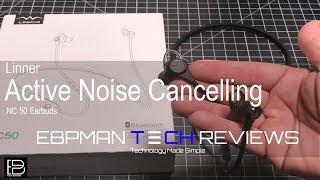 Linner Active Noise Cancelling Wireless Headphones