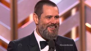 Jim Carrey Speech At The Golden Globe Awards 2016. HDTV