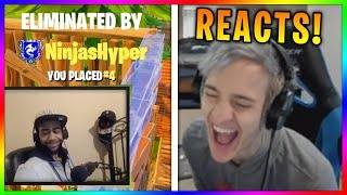 "Ninja Reacts to ""Why Ninja is my favorite Fortnite Streamer"""