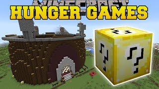 Minecraft: CHALLENGE GAMES HUNGER GAMES - Lucky Block Mod - Modded Mini-Game