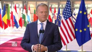 At NATO, Trump calls out allies on unpaid dues while staying mum on joint defense pact