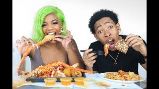 OUR FIRST MUKBANG | SEAFOOD BOIL