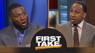 Stephen A. and Ryan Clark argue about players protesting during national anthem | First Take | ESPN