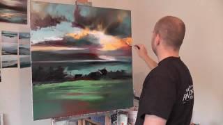 Uig Sky Part2: Scottish Landscape Oil Painting Demo by artist Scott Naismith