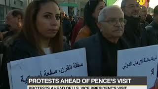 Jordan: Protest ahead of US Vice President visit