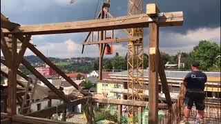 Das war's mit dem  Langstadl-Dachstuhl in Freyung