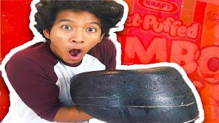 DIY GIANT BLACK MARSHMALLOW!!!