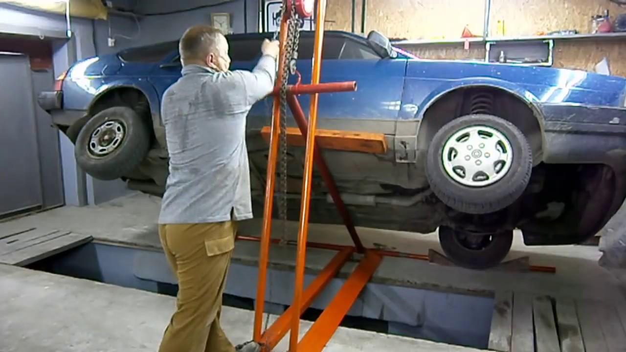 Как сделать подъемник для авто своими руками